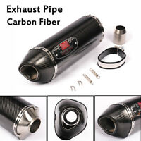 38-51mm Motorcycle ATV Real Carbon Fiber Exhaust Pipe Tips Muffler For Universal