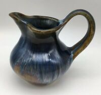 Bill Campbell Studio Art Pottery Blue Brown 4 1/2