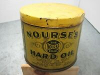 Nourse's Hard Oil Velvet Cup Grease Vintage Tin Can Gas and Oil