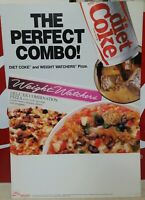VTG* NOS 1987 Coca Cola Cardboard Sign The Perfect Combo Diet Coke...