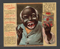 1890s Mechanical Trade Card - Black American -  Chase & Sanborn Coffee