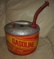 Vintage Stancan Super Can Metal 2.5 Gallon Gas Can