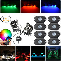 LED RGB Off-road Rock Lights Wireless Bluetooth Music Accent Ford Truck ATV SUV