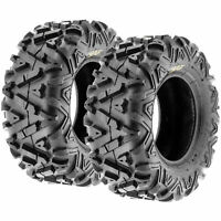 Pair of New Sun-F ATV UTV QUAD SXS Tires (2) 25X12-9  25X12X9 6PR /033