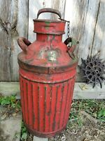 ANTIQUE VTG 20s 30s SERVICE 10 GALLON ELLISCO GAS & OIL CAN  ADVERTISING