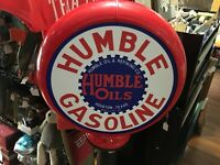 Humble Gasoline Poly Gas Pump Globe