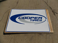 COOPER TIRE 45 X 30 inch METAL PAINTED ADVERTISEMENT SIGN
