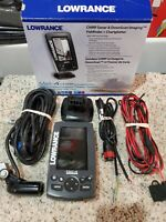 LOWRANCE MARK 4 CHIRP FISH FINDER W/ TRANSDUCER & WIRING HARNESS EXCELLENT!!