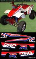 1986 86' honda TRX ATV 250R 8pc Decals Stickers Fourtrax Graphics Kit quad