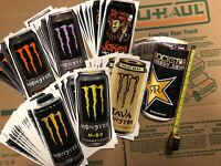 Monster Energy Rockstar Drink Can Sticker Decal Wholesale Resale Lot Of 108