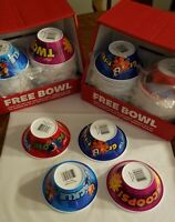 FIVE New SETS OF FOUR - Kellogg's 2017 Cereal Bowls Collectible. FREE SHIPPING.