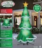 NEW - Gemmy 10.5-ft LED Lighted Rotating Inflatable Outdoor Christmas Tree