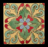 1930s VINTAGE SOUTHERN CALIFORNIA ART POTTERY TILE COLORFUL PATTERN 8