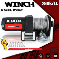 X-BULL 3000LBS 12V Electric Winch UTV Winch ATV Winch Synthetic Rope 4WD