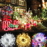 LED Christmas Tree Fairy String Party Light Outdoor Indoor Xmas Lamp +Tail Plug