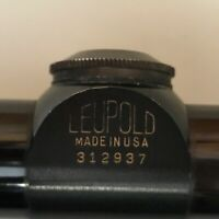 Vintage Leupold Gold Ring M8 4x Fixed Rifle Hunting Scope with Rings Mounts