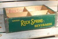 ROCK SPRING BEVERAGES WOOD  BOX SHAKOPEE MINNESOTA