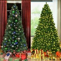 4/5/6/7ft PVC Hanging LED Lights Christmas Tree Xmas Party Indoor Outdoor Decor