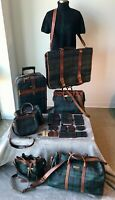 POLO Ralph Lauren Collector's Blackwatch Tartan Plaid 24PC Luggage FULL SET ONLY