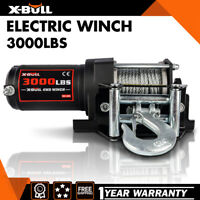X-BULL 3000LBS Electric Winch Steel Cable New Remote Wireless ATV 12V