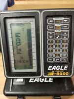 Eagle Z-6000 Fishfinder w Transducer, Head Unit Mount No Batteries