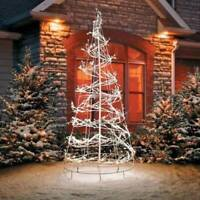Outdoor Lighted 6′ Spiral Tree Sculpture 360 Lights Christmas Yard Dec