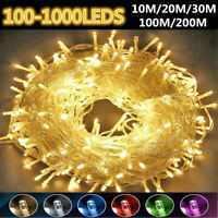 100-1000LED Christmas Tree Fairy String Lights Xmax Waterproof Outdoor Lamp US