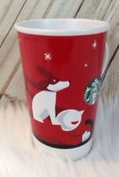 Starbucks Coffee Cup Mug Christmas Dog Sleigh Boy Holiday 6