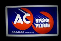 'AC Spark Plugs' Lighted Sign  Chevy Pontiac Buick Olds