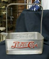 1940's Pepsi Cola Double Dot Metal Bottle Carrier