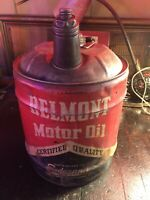 Vintage Belmont 5 Gal Gas Oil Can