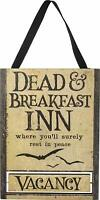 Primitives by Kathy Hanging Halloween Sign Dead and Breakfast Inn Vacancy