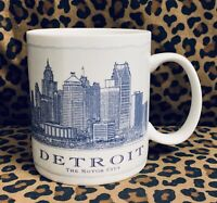 Starbucks Detroit Architectural Motor City Collector Series Coffee Mug 18Oz 2006