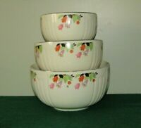 Hall Pottery Crocus Radiance Tulip 3 Piece Mixing Bowl Set