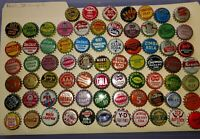 73 DIFFERENT OLD 1920-1960 SODA SOFT DRINK POP BOTTLE CAPS COLLECTION CORK-LINED