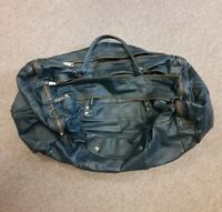Classic Retro Genuine Leather Travel Duffle Carry On Bag Vintage Luggage Blue