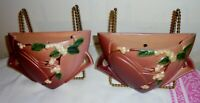 2 ROSEVILLE SNOWBERRY WALL POCKETS