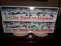 Hess Trucks, Toy truck & airplane, Toy truck & helicopter, New in box