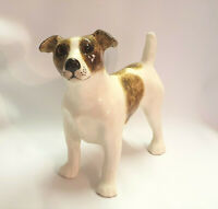 **Jenny Winstanley Jack Russell Standing Cathedral Glass Eyes Signed - New**