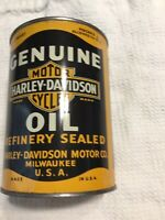 Harley Davidson 1 Quart Metal Oil Can Empty