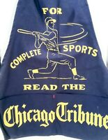 Vintage 1950's 60's Chicago Newsboy Newspaper Sales Apron Sign NOS Unused NICE
