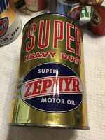 Old 1 Quart Zephyr Metal Oil Can #3