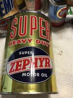 Old 1 Quart Metal Zephyr Oil Can #1