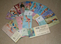Vintage Ink Blotter Card Lot of 15 1940's Pin Up Girl Pittsburgh Paint Advertise