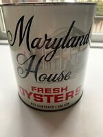 Vintage 1 Gallon Maryland House Oyster Tin/Can