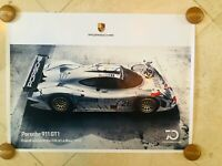 Porsche Original Factory Poster - Porsche 70 Years | 911 GT1 | Le Mans Winner 98