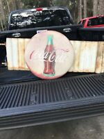 Vintage Large 24 Inch Coca Cola Button Sign With Panels. RARE FIND.