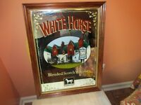BAR SIGN The White Horse Cellar Blended Scotch Whisky MIRROR (RARE, NICE)