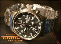 Pilot's Watch Thunderbirds German Aircraft Historage 1956 Chronograph Date 55mm