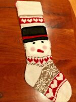 New W/ Tags Pottery Barn Classic Fair Isle STOCKING X-Long